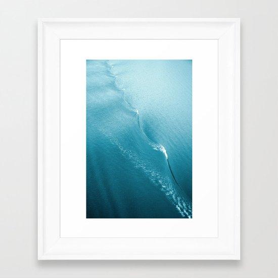 Ripple in Time (aqua) Framed Art Print