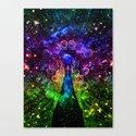 Magical Peacock Canvas Print