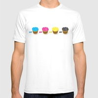 CMYK cupcakes Mens Fitted Tee White SMALL
