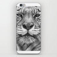 White Tigress  G2013-071 iPhone & iPod Skin