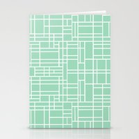 Map Outline Mint Stationery Cards