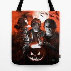 Freddy Krueger Jason Voorhees Michael Myers Super Villians Holiday Tote Bag