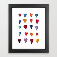 Multiple HEARTS Framed Art Print