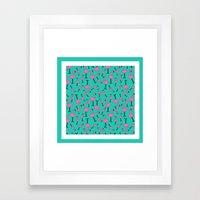 Flamingos everywhere Framed Art Print
