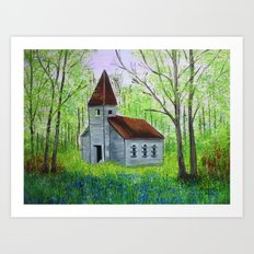 Abandoned  Country Churc… Art Print