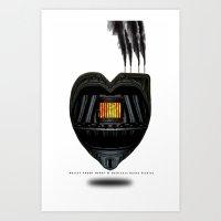 BULLET PROOF HEART Art Print
