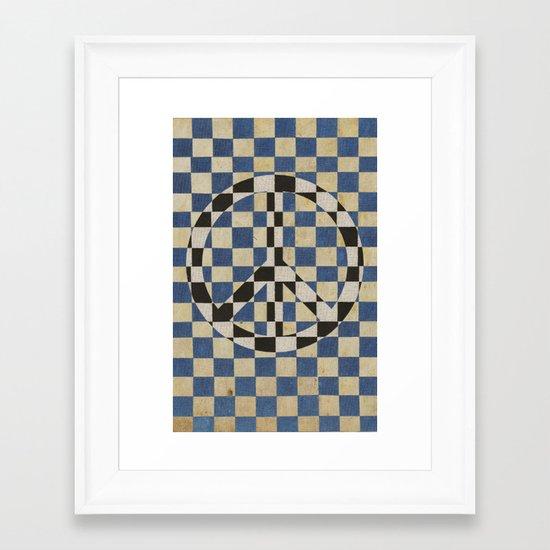 Peace square Framed Art Print