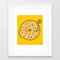 Pizza Vinyl Framed Art Print