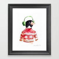 Winter Penguin Framed Art Print