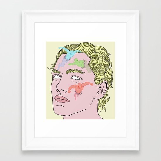 The Complexities of Having a Swimming Pool Face Framed Art Print