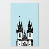 Tyn Church - Prague Canvas Print