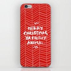 Merry Christmas, Ya Filthy Animal – Red iPhone & iPod Skin