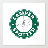 Camper Spotted Canvas Print