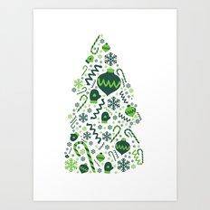 Festive Christmas Print Art Print