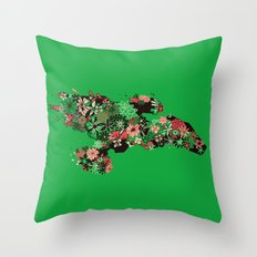Flowerfly Throw Pillow