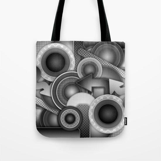Monochrome Mayhem  Tote Bag