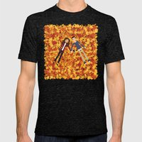 Autumn Dreaming Mens Fitted Tee Tri-Black SMALL