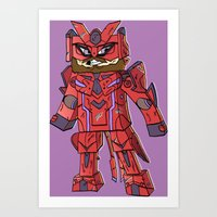 Phantasy Block - Minecra… Art Print