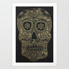 Gold Skull Art Print
