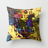 Circuit Board Lost Throw Pillow