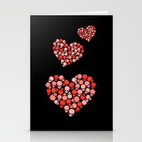 SKULL HEART FOR VALENTINE'S DAY Stationery Cards