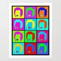 Minimalist Warhol/Monroe Colour Repeats Art Print