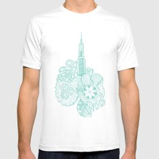 NYC SMALL White Mens Fitted Tee