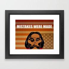 Mistakes Were Made Framed Art Print