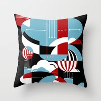 Zeppelins And Balloons Throw Pillow
