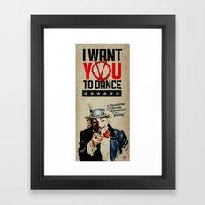 I WANT YOU! V for Vendetta Poster Framed Art Print