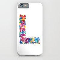 L Letter Floral iPhone 6 Slim Case