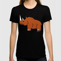 Woolly Rhino Womens Fitted Tee Black SMALL