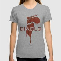 DIABLO409 Womens Fitted Tee Athletic Grey SMALL