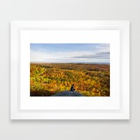 Looking at Autumn Framed Art Print