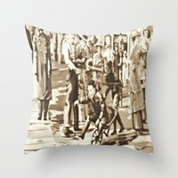 Back In Time Throw Pillow