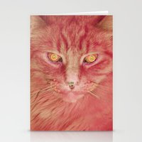 Pink Cat Stationery Cards