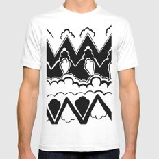 Vintage Pattern Mens Fitted Tee SMALL White