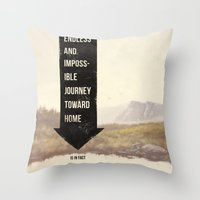 Endless Journey Home Throw Pillow