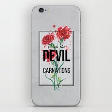 The Devil in Carnations iPhone & iPod Skin
