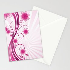 Pretty Pink Flourish and Flower Stationery Cards