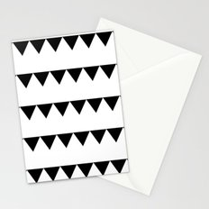 TRIANGLE BANNERS (Black) Stationery Cards