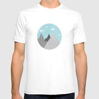The Mountains Are Callin… Mens Fitted Tee White SMALL