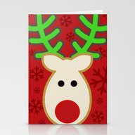 Rudolph The Reindeer Stationery Cards
