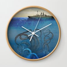 Sea Monster Wall Clock