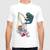 Fishin' Time! Mens Fitted Tee White SMALL
