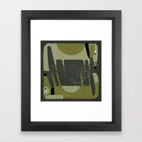 DOUBLE DOG SQUARE Framed Art Print