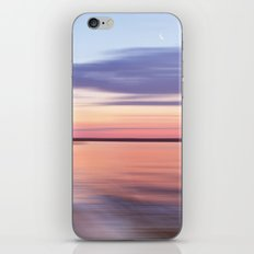 Wide River Dawn with Crescent Moon iPhone & iPod Skin