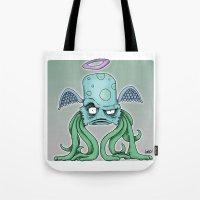 Space Alien Sci Fi art by RonkyTonk Tote Bag