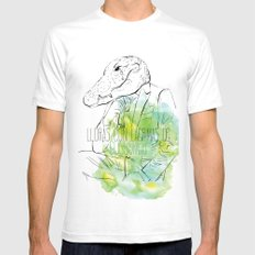 Lloras con lágrimas de cocodrilo (you cry with cocodrile tears) White SMALL Mens Fitted Tee