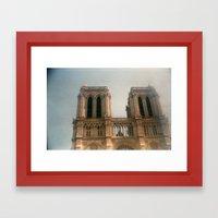 Dreamy Notre Dame  Framed Art Print
